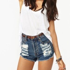❌ON HOLD❌MINKPINK high waisted shorts